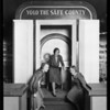 Publicity shots with Harvey, Los Angeles Investment Co., California land show, Southern California, 1930