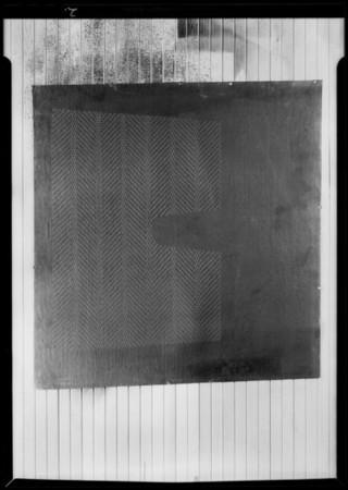 Rubber mats for autos, National Auto Top Co., Southern California, 1930