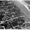 Aerial view of Malibu near the shore