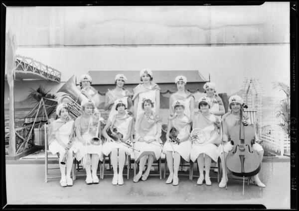 Gardena Girls' Band & dancers, Southern California, 1929