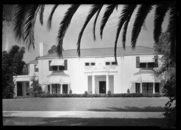 Exteriors of Hunt estate, #3 Berkeley Square, Los Angeles, CA, 1929