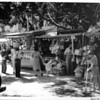 Olvera Street, shoppers, kiosk displays