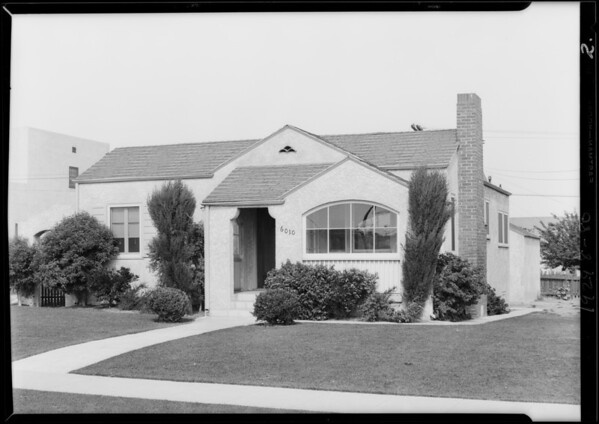 6010-6014 Alviso Avenue, Los Angeles, CA, 1929