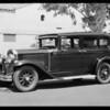 Buick sedan after repairs, Southern California, 1931