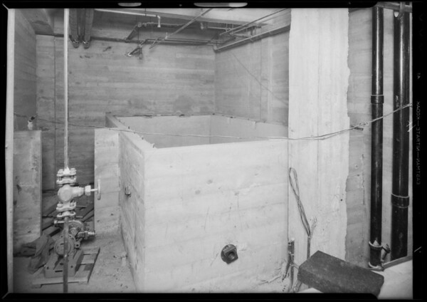 Plumbing, County Hospital, Los Angeles, CA, 1931