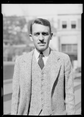 Mr. Eckternack, Southern California, 1931