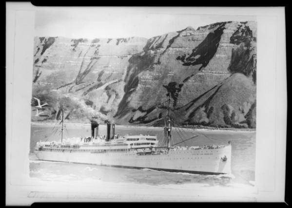 """Copy of steamer """"Winward Molokai"""", Southern California, 1929"""
