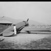 Lieutenant Bromly and his Lockheed plane, Southern California, 1929