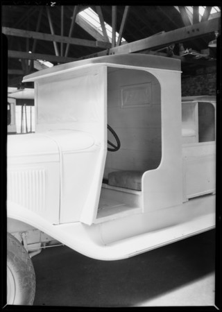 Cab on dairy truck, Ford Motor Co., Southern California, 1931