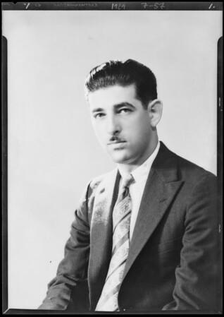 Portrait of Grossblatt, Southern California, 1929