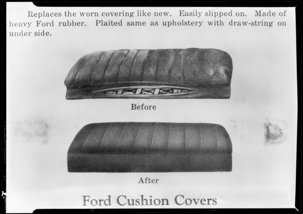 Copies out of book of Ford seats, National Auto Top, Southern Calfornia, 1930