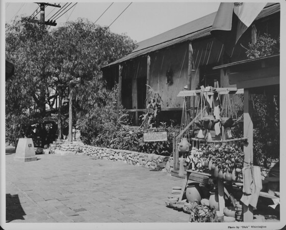 Olvera Street, the Avila Adobe, (oldest house in Los Angeles)