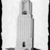 Model of building, Southern California, 1929