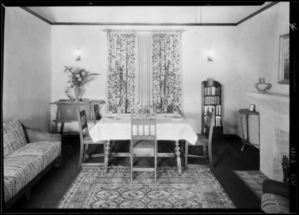 Model bungalow, Southern California, 1929