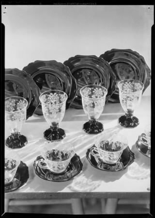 Bridge or luncheon set, Parmelee Dohrmann Co., Southern California, 1931