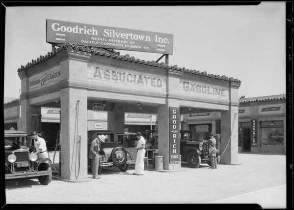 Service station at 4th Avenue & West Washington Boulevard, Los Angeles, CA, 1930
