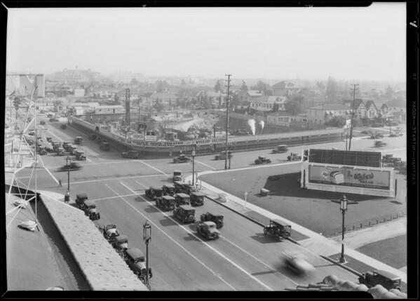 Progress of Pellissier Building, Wilshire Boulevard and South Western Avenue, Los Angeles, CA, 1930