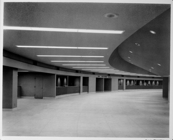 Newly completed Los Angeles Memorial Sports Arena interior view