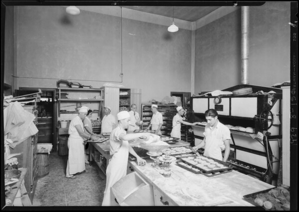 Shots of bakery, Southern California, 1929