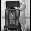 Mary Kornman & radio, Southern California, 1930