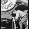 Hose coupling, Gilmore gas truck, Singer-Bohn Co., Southern California, 1931