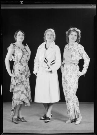 Fashion show in studio, Southern California, 1930