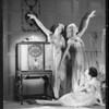 Belcher Grecian dancers and radio at studio, Southern California, 1929