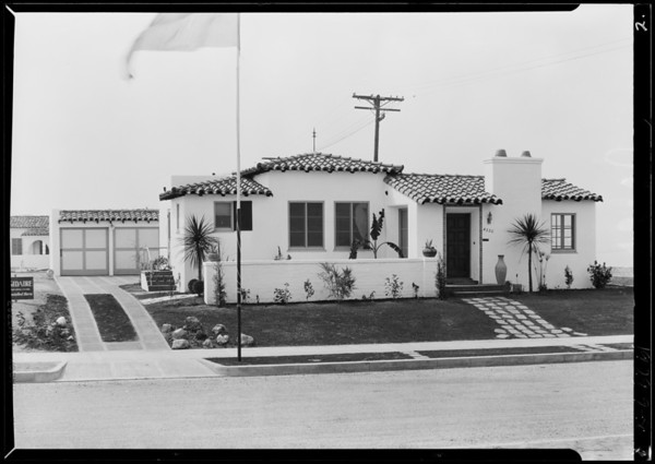 California model home, Southern California, 1929