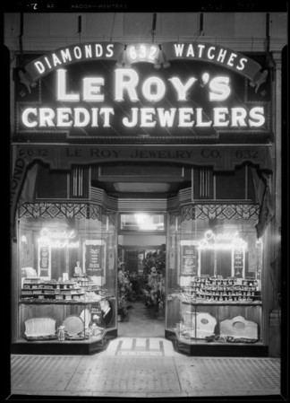 Opening night at new store, 632 South Broadway, Los Angeles, CA, 1929