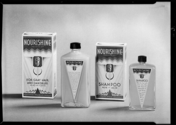 Nourishine toilet articles, Southern California, 1931