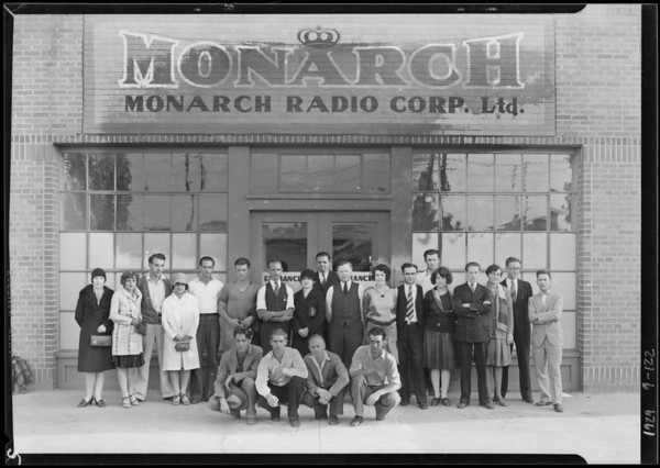 Group of employees, Monarch Radio Corporation, Southern California, 1929