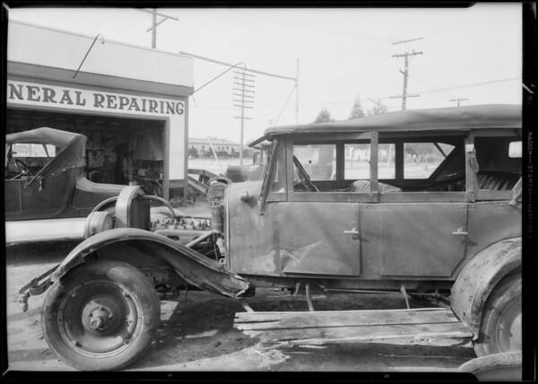 Flint car at Olive & Long Beach Boulevard, Compton, CA, 1931