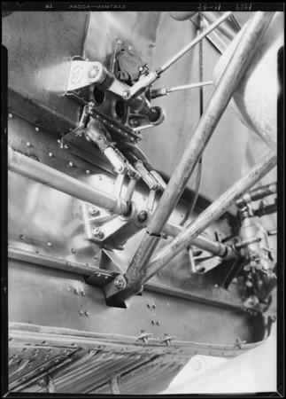 Broken motor support, Southern California, 1929