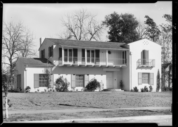 House on Waverly Road, San Marino, CA, 1931