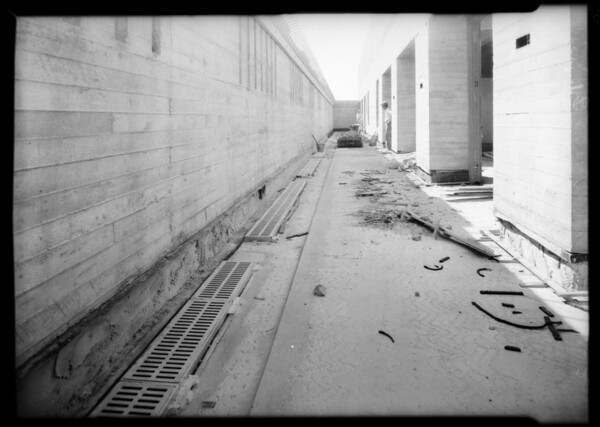 Hospital cement finish, Los Angeles, CA, 1931