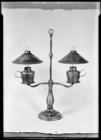 Lamps and setup, Parmenter Manufacturing Co., Southern California, 1931