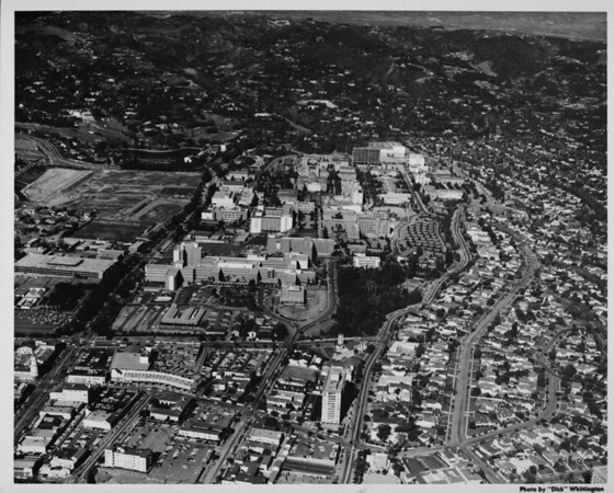 Aerial view of University of California at Los Angeles (UCLA)