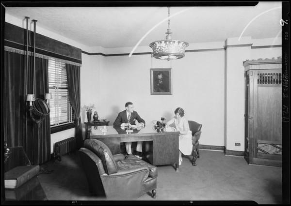 Interior shots, Realty Assurance Corporation, 311 Financial Center Building, Southern California, 1929