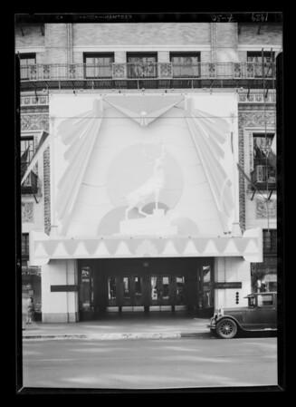 Elk's display daytime, Southern California, 1929