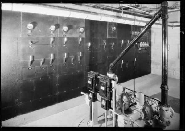 Installation in new Los Angeles theater, Diamond E. Electric, Los Angeles, CA, 1931