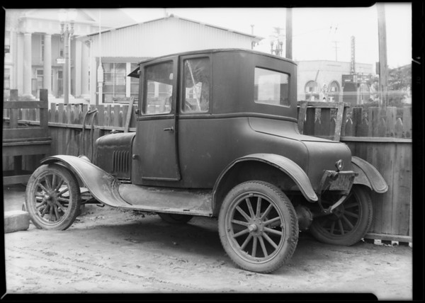 Ford Coupe at Red Wing Garage, Southern California, 1930