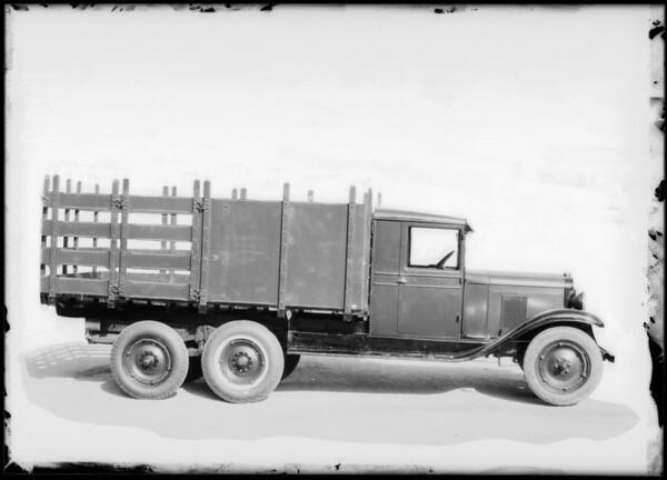 Chevrolet 6 wheel truck, Southern California, 1929