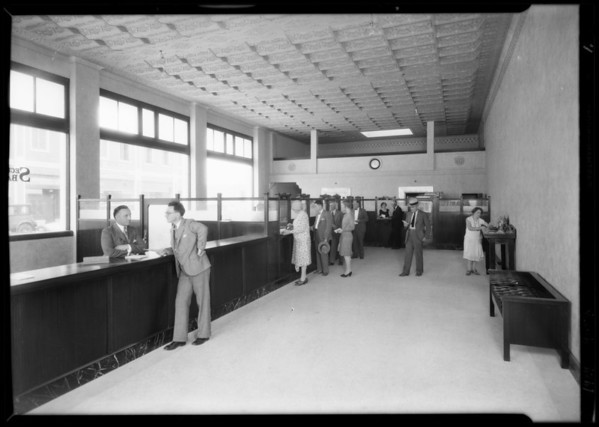 New branch, Security-First National Bank, at West 85th Street & South Vermont Avenue, Los Angeles, CA, 1929