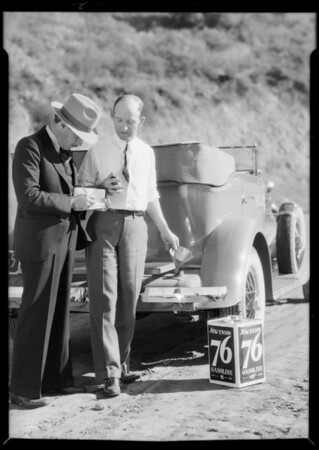 Test run, new Union 76, Southern California, 1931