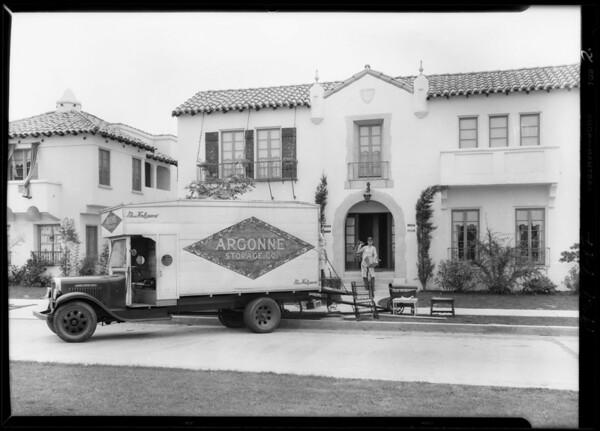 Moving van, Southern California, 1929