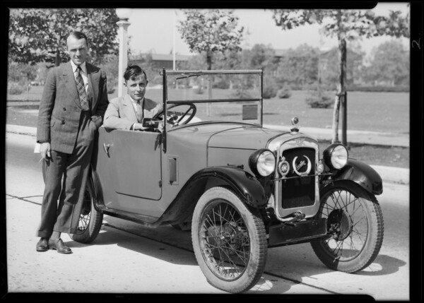 English Austin car, Southern California, 1930