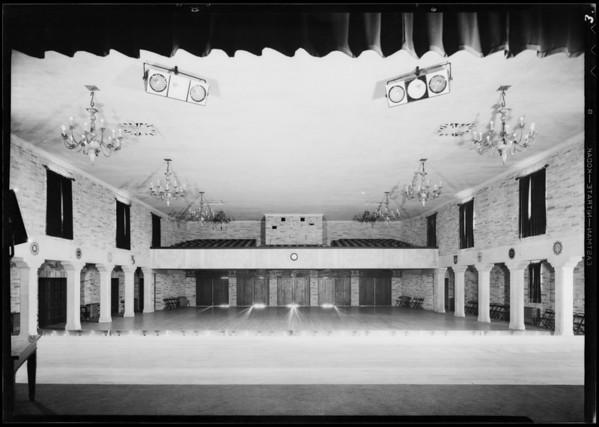Installations in Masonic club, Westwood, Los Angeles, CA, 1931