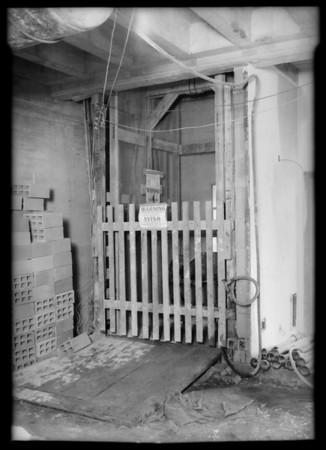 Elevator shaft, Edison Co. building, Southern California, 1931