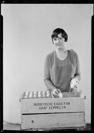 Eggs for Graf Zeppelin, Southern California, 1929
