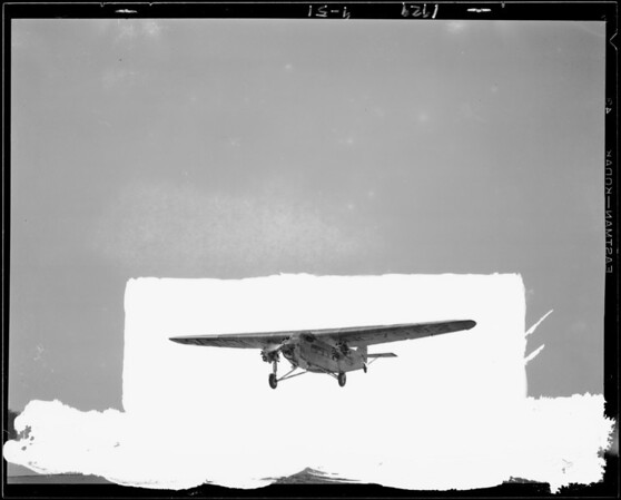Ship #8 taking off, Maddux Air Lines, Southern California, 1929
